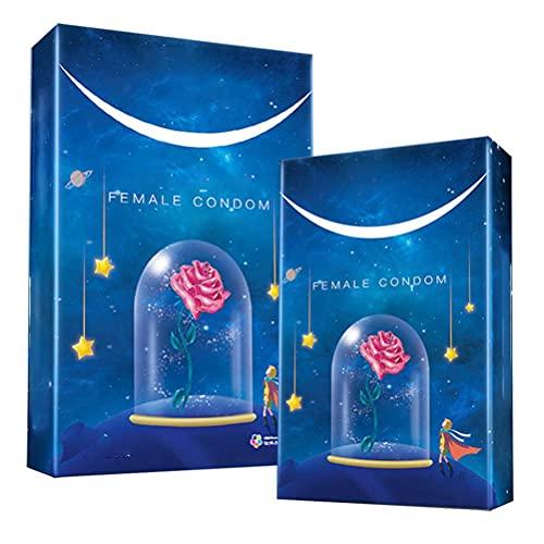 BBABBT Condones Femeninos de 2 Piezas Condones Femeninos lubricados con látex ultrafinos para una máxima Comodidad y Placer. Sensación Fina y Segura