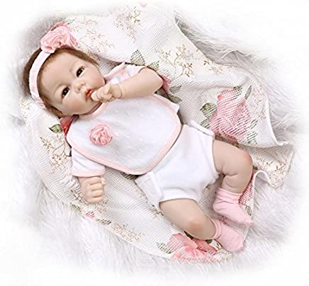 Pink RD55Z002 Nicery Reborn Baby Doll High Vinyl 22 inch 55 cm Magnetic Mouth Lifelike Vivid Waterproof Full Body Anatomically Correct Boy Girl Toy for Ages 3