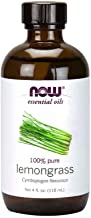Now Essential Oils, Lemongrass Oil, Uplifting Aromatherapy Scent, Steam Distilled, 100% Pure, Vegan, 4-Ounce