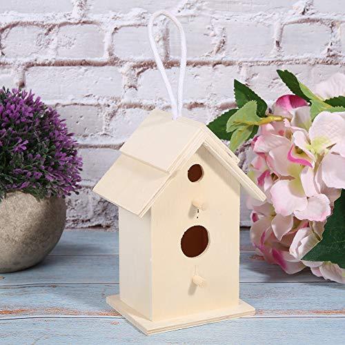 Jarchii 【2020 di fine anno】 Nidi di uccelli, casetta da appendere in legno durevole di alta qualità, decorazione per casetta per uccelli, Cockatial