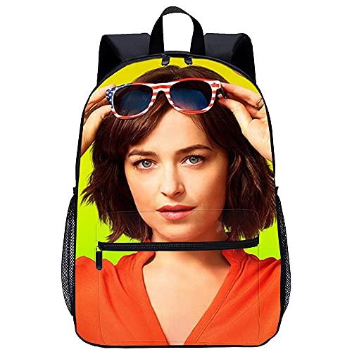 Mochila 3D mochila escolar -Dakota Johnson-Adecuado para: estudiantes de primaria y secundaria, la mejor opción para viajes al aire libre-Tamaño: 45x30x15 cm / 17 pulgadas-Mochilas Escolares Juvenil