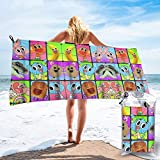 Girdoy Adults Quick Dry Towel,Skin-Friendly Fast Drying The Amazing World of Gumball Character Poster Beach Towel, Cozy Yoga Towel for Yoga Office Swimming
