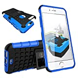 I Phones8 Plus Case, iPhone 7/7S Plus Armor Cases (7&8) Tough Rugged Shockproof Armorbox Dual Layer Hybrid Hard/Soft Slim Protective Case (5.5 inch) by Cable and Case - Blue Armor Case