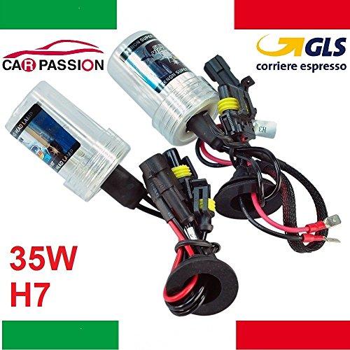 Lot de 2 ampoules xénon H7 55 W 4 300 K 12 V pour phares HID