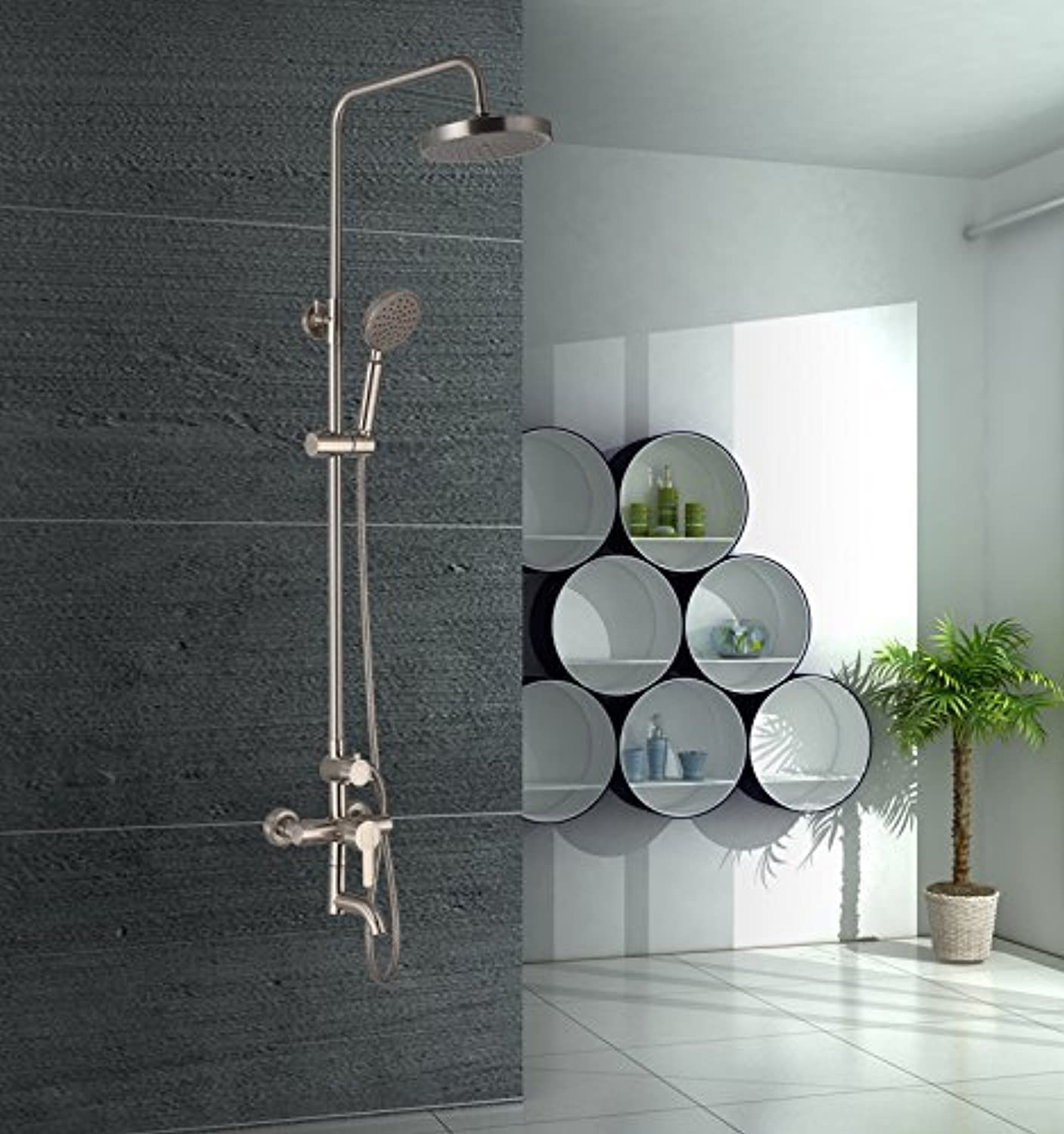 The Copper Shower Shower Column Shower Thermostat Fully Stop