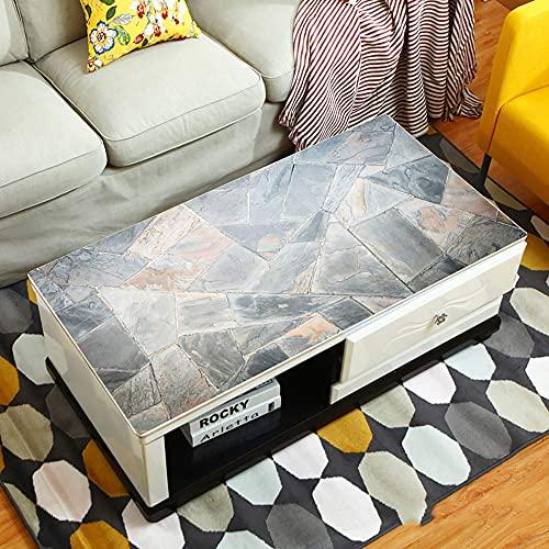 Accesorios para sala de estar Mantel de PVC sin lavado Impermeable Anti-decoloración Cubierta de mesa Resistente al calor Cojín de mesa Esquina redonda para mesa auxiliar Escritorio de oficina Mat-