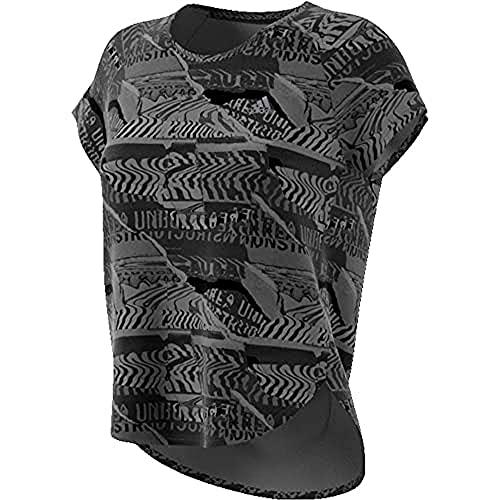 adidas Own The Run tee Camiseta de Manga Corta, Mujer, Grey Four f17/Black, XS