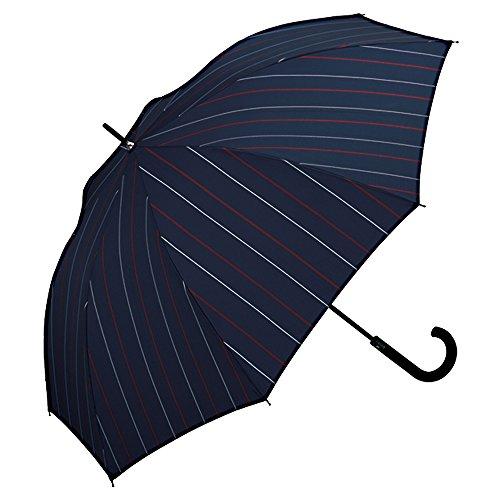 ワールドパーティー(Wpc.) 雨傘 長傘 ジャンプ傘  ネイビー  65cm  レディース メンズ ユニセックス 耐風 M...