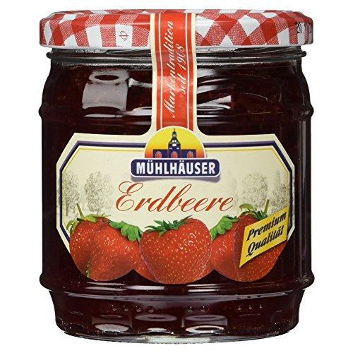 Mühlhäuser Erdbeere Konfitüre Extra 50% Frucht, 450 g