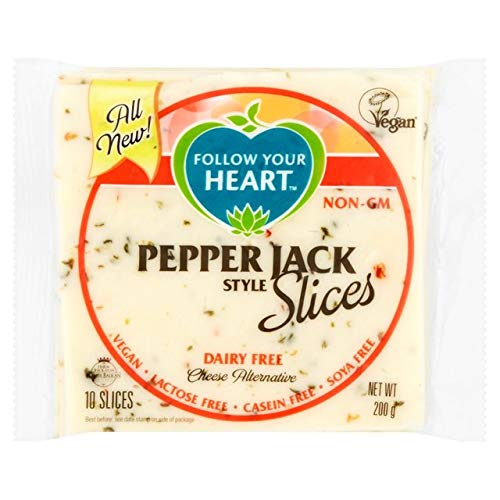 Follow Your Heart Lonchas de queso vegano - Estilo Pepper Jack (200g)   VEGANO   SIN GLUTEN