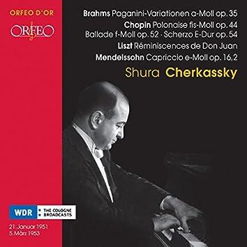 Chopin, Brahms, Liszt & Mendelssohn: Piano Works