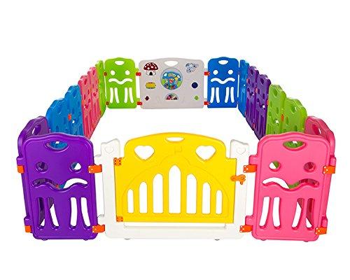 Cannons UK Corralito para bebé, 16 x lados pequeños parque infantil + elemento grande con integrados