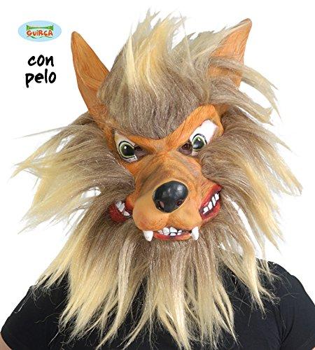 Guirca- Careta lobo látex con pelo, Talla única (2724.0)