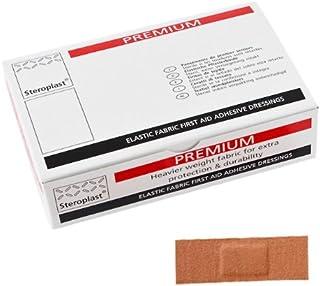 Stereoplast - 100 tiritas de tejido adhesivas para primeros auxilios, 7,5 x 2 cm