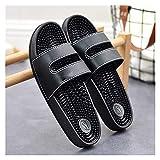 Zapatillas de baño Unisex-Adultos Sandalias Sandalias y Zapatillas para uso doméstico Sin resbalón Pie de pie de pie Masaje Pie Partículas con fugas Sandalias Sandalias de ducha Zapatillas de baño