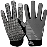 Touchscreen Cycling Gloves for Men Women, Summer UV Protection Sun Gloves Breathable Non slip Full Finger Driving Gloves Mountain Motorcycle Riding Bicycle Workout Gloves (Light Grey)