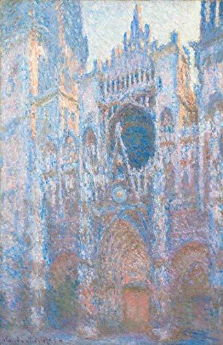 Catedral de Rouen - Luz da Manhã (1894) de Claude Monet - 60x92 - Tela Canvas Para Quadro
