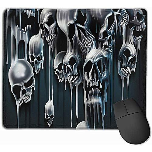UQ Galaxy Alfombrilla De Teclado,Cráneo Copiar Imprimir Gaming Mouse Pad Functional Gaming Mousepad 25X30Cm