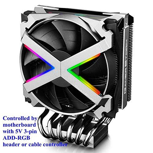 DEEP COOL FRYZEN, CPU Kühler mit 6 Heatpipes, Prozessorlüfter für AMD CPUs, 120mm PWM Lüfter, ARGB