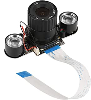 5 Megapixels Camera Module, OV5647 IR-Cut Automatically Switching Between Day-Vision and Night-Vision with Night Vision LED Fill Light Replacement with Raspberry Pi B 3/2
