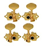 2R2L 4 String Ukulele Tuning Pegs Machine Heads Tuners Keys Tuners (Gold)