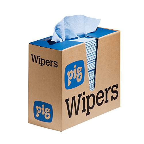 New Pig PR40 All-Purpose Wipers, Pop-Up Wipers, Blue, Medium-Duty, 16' L x 9' W, 900 Wipers (12 Boxes of 75 Wipers), WIP231