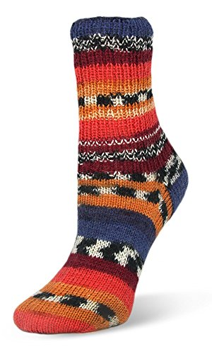 Neu 2017! 100g Flotte Socke Seide-Merino - Farbe: 4001 - ocker/ blau - Hochwertige, sehr weiche Sockenwolle mit Seide und Merino, aber trotzdem Waschmaschinenfest.