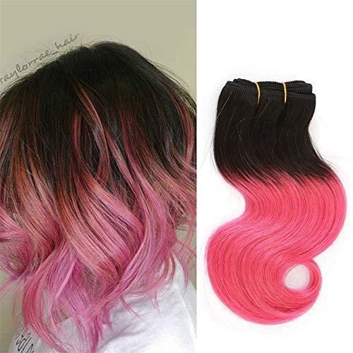 FFWIGS 8A Brésilien Court Cheveux Extensions Corps Vague Ombre Cheveux Tissage 100% Cheveux Trame 4 Bundles 8 inch 4 Couleur