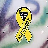 BW Alfa Camiseta amarillas lazo adhesivos solidaridad Deutsche Soldados cintura Alemania Bundeswehr reservisten Auto Adhesivo extranjero Uso (Negro de amarillo, 10x 5cm)–/Pegatinas # A622