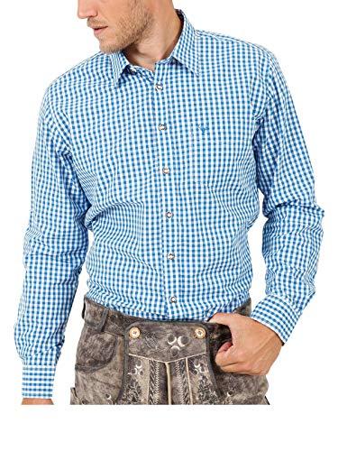Krüger Herren Trachtenhemd lang, Modell Trachtenhemd, Langarm, Art.-Nr. 000951-0-0108, L, blau