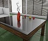 Tischfolie 2mm Tischdecke hochglanz abwaschbar nach Maß (in allen Größen erhältlich) Tischschutz Tischunterlage PVC Film, Breite PVC:80cm, Länge PVC:40cm - 4