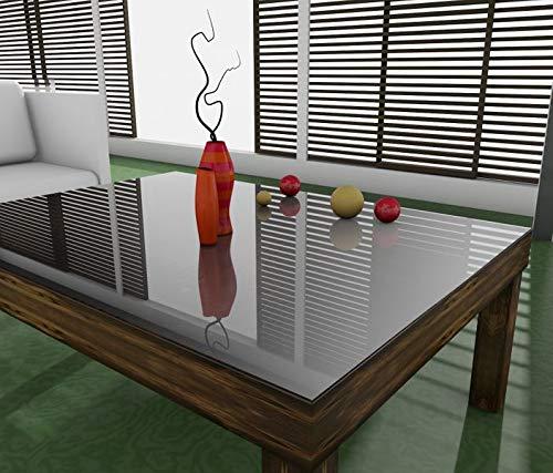 Tischunterlage Breite 90cm Transparent 2mm Tischfolie PVC Tischschutz Folie Weich Tischdecke Tischmatte Tischauflage Schutzfolie, Breite PVC:90cm, Länge PVC:160cm