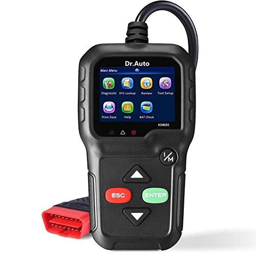 OBD2 Auto Diagnosegerät,2.8 \'LCD OBD2 Scanner,professionelle Kfz-Diagnose-Tool(Unterstützt alle 12V Benzin Fahrzeuge ab 1996)Auto-Codeleser zum Überprüfen und Löschen von Fehlercode
