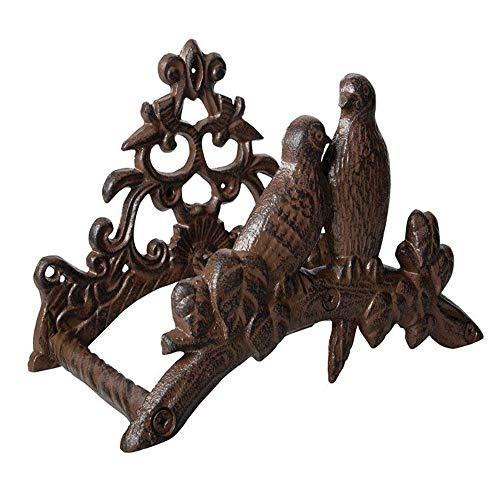 Slang ophangsysteem rack tuinslang standaard, aan de muur bevestigd gietijzer tuinslang ophangsysteem rack met vogel ornament en Tree design, tuinslang tuinslang