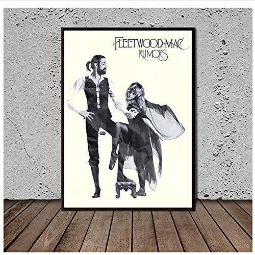 Qwgykr Rumores Fleetwood Mac Póster De Vinilo Imágenes Impresiones En Lienzo Arte De La Pared Pintura En Lienzo Decoración Para El Hogar Decoración Regalo -16X24 Pulgadas Sin Marco 1 Pcs