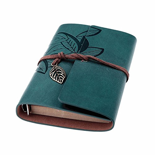 Beyong Leather Writing Journal, Refillable Travelers Notebook, Men & Women Leather Journals to Write in, Art Sketchbook, Travel Dairy, Best Gifts for Teens Girls and Boys (Blue, 7 Inch)