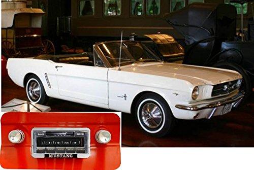 Bluetooth Enabled 1964-1966 Mustang 300w Slidebar AM FM Car Stereo/Radio