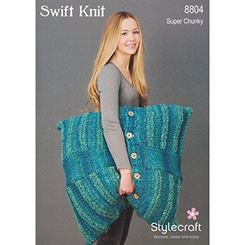 Stylecraft Swift Knit Super Chunky Boden Kissen Strickmuster 8804