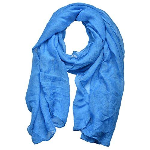 Woogwin Light Soft Scarves Fashion Scarf Shawl Wrap For Women Men (Blue)