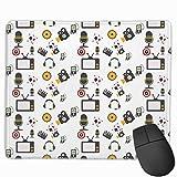 TV Auriculares Altavoces Rectangular Alfombrilla de ratón Antideslizante para Juegos Teclado Alfombrilla de Goma para laptops para el hogar y la Oficina