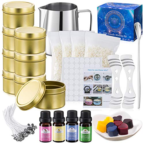 100 Cotton Wicks Spoon /& Candles tins Tobeape DIY Candle Making Kit Supplies Candle Wicks Holder Arts /& Craft Tools Including Pouring Pot Beeswax