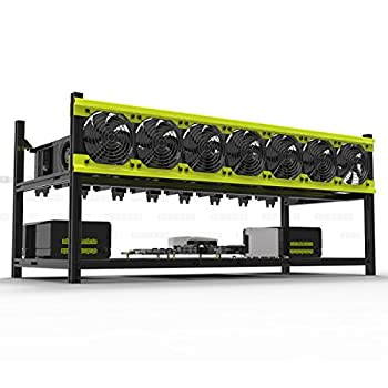 Veddha V3D 8-GPU Mining Case Aluminum Stackable Mining Rig Open Air Frame Case with Fan Mount - Ethereum ETH,ETC /ZCash ZEC /Monero XMR /Bitcoin BTC /Siacoin SC