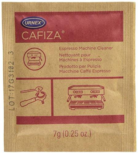 Urnex Cafiza Espresso Machine Cleaning Powder, 100 1/4 oz Packets