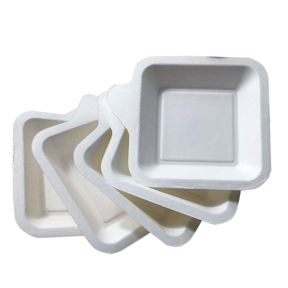 クラウドバス自治的BESTOYARD ペーパープレート 紙皿 正方形 使い捨て食器 ケーキ 紙プレート パーティー イベント ピクニック 誕生日 バーベキューに 業務用 100枚セット