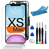 WYNT for iPhone Xs Max Screen Replacement LCD with Complete Repair Tools Screen Protecter Waterproof Adhesive Xs Max 6.5inch Touch Screen Black (Model A1921,A2101,A2102,A2103,A2105)