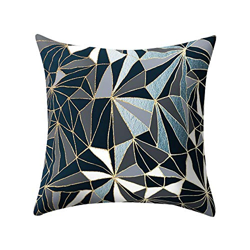 Watopi Geometric Mosaic Throw Pillow Case,Triangle Rectangle,Cushion Covers,Silver Pink Rose Gold Classic Geometric Print Cushion Covers Throw Pillow Covers Cases for Couch Sofa Home Decor,45cm x 45cm