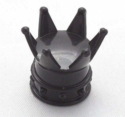 4x Ventilkappen Krone König Farbe: Schwarz Black Ventilkappe Vkrsch