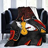 Shadow The Hedgehog Ultra Soft Flannel Fleece Throw Blanket Light Weight Warm Blanket Bed Couch Living Room 60'' x50
