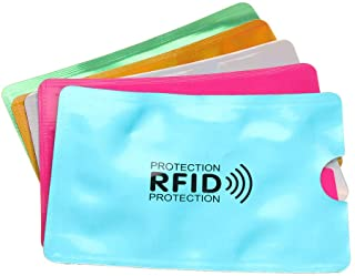 RAYNAG 25 RFID Blocking Credit Card Sleeves ID Card Holders Identity Theft Protection Aluminum Foil Covers, Fits Wallet/Pu...