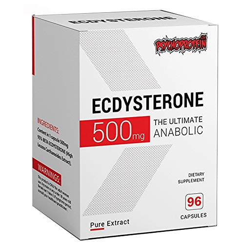 Ecdysterone 500mg Capsules Supplement Extract - Ultimate Natural Anabolic (Cyanotis Arachnoidea) 64 Capsules (2-Month Supply)